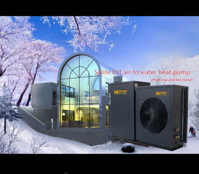 OEM China Supplier Low Temperature Working Evi Air to Water Heat Pump