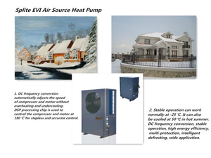 -20degree 4.4kw/7.8kw/4.6kw/8.4kw/11.8kw Heating Capacity Splite Evi Air to Water Heat Pump