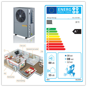 Energy Saving R410A Air Conditioner Heat Pump (heating/cooling/hot water)