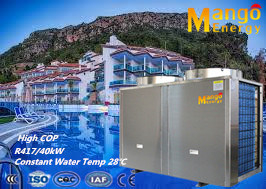 Manufacturer Swimming Pool Heat Pump Air to Water Heating Titanium Heat Exchanger (CE, CB, CCC)