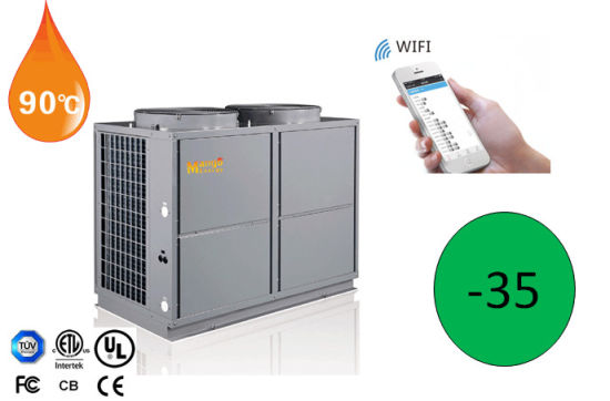 High Temperature 90 Degree Air Water Heat Pump (connect WiFi control)